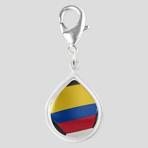 Colombia Soccer Ball Silver Teardrop Charm