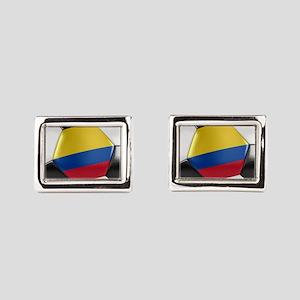 Colombia Soccer Ball Rectangular Cufflinks