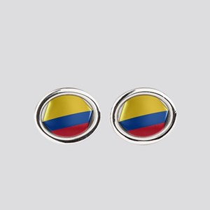 Colombia Soccer Ball Oval Cufflinks