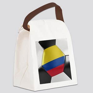Colombia Soccer Ball Canvas Lunch Bag