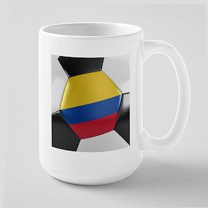 Colombia Soccer Ball Large Mug