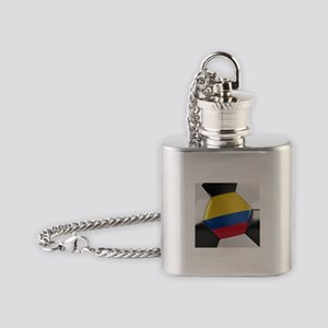 Colombia Soccer Ball Flask Necklace