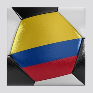 Colombia Soccer Ball Tile Coaster