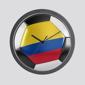 Colombia Soccer Ball Wall Clock