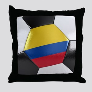 Colombia Soccer Ball Throw Pillow