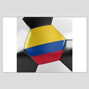 Colombia Soccer Ball Large Poster