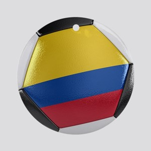 Colombia Soccer Ball Ornament (Round)