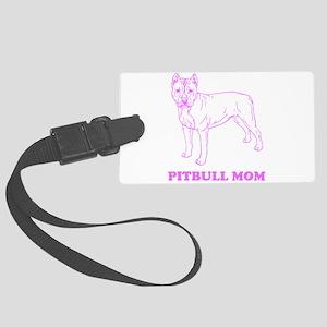 Pitbull Mom Luggage Tag