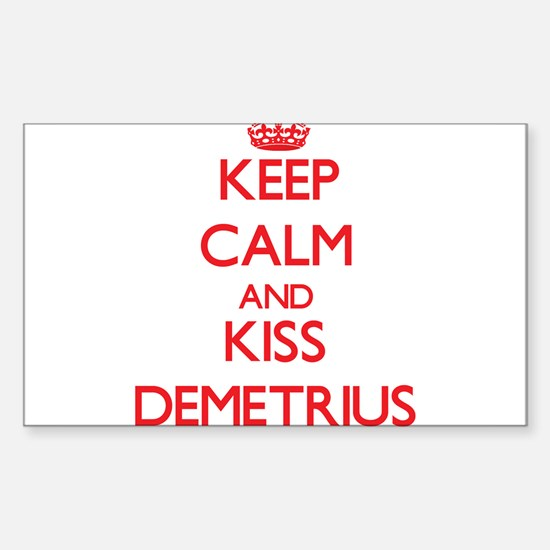 Keep Calm and Kiss Demetrius Decal