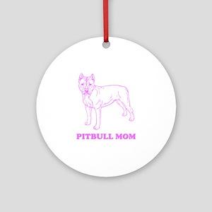 Pitbull Mom Ornament (Round)