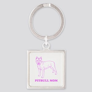 Pitbull Mom Keychains