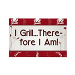 I Grill Therefore I AM Rectangle Magnet (100 pack)