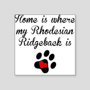 Home Is Where My Rhodesian Ridgeback Is Sticker