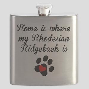 Home Is Where My Rhodesian Ridgeback Is Flask