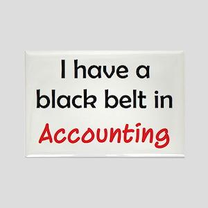accounting black belt Rectangle Magnet