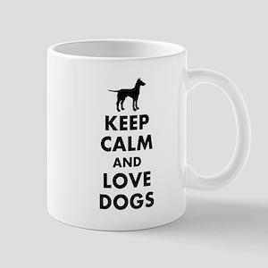 Keep calm and love dogs Mugs