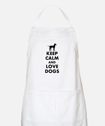 Keep calm and love dogs Apron