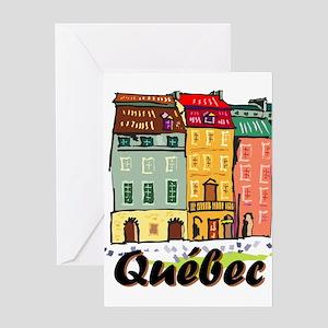 Quebec city Greeting Cards