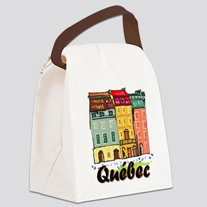 Quebec city Canvas Lunch Bag