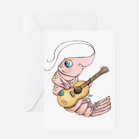 Acoustic Shrimp Greeting Cards