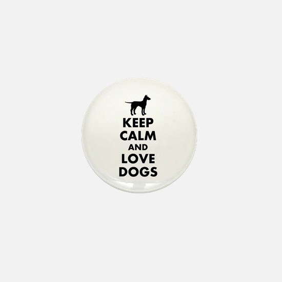 Keep calm and love dogs Mini Button