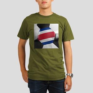 Costa Rica Soccer Bal Organic Men's T-Shirt (dark)