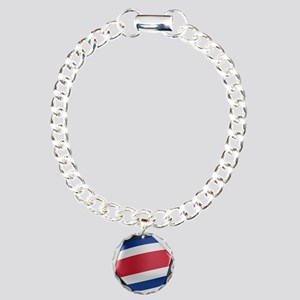 Costa Rica Soccer Ball Charm Bracelet, One Charm
