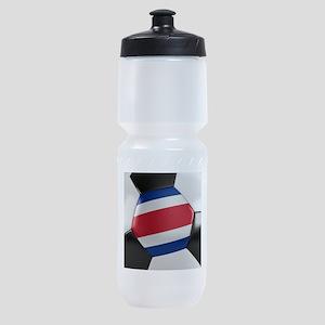 Costa Rica Soccer Ball Sports Bottle