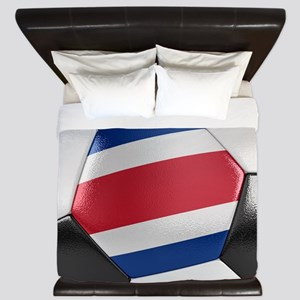 Costa Rica Soccer Ball King Duvet