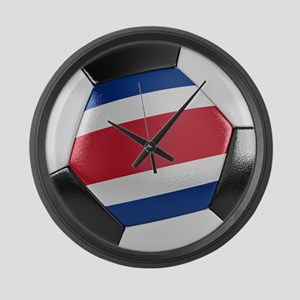 Costa Rica Soccer Ball Large Wall Clock
