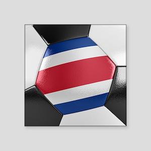 """Costa Rica Soccer Ball Square Sticker 3"""" x 3"""""""