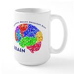 Bbbb Brain Large Mugs