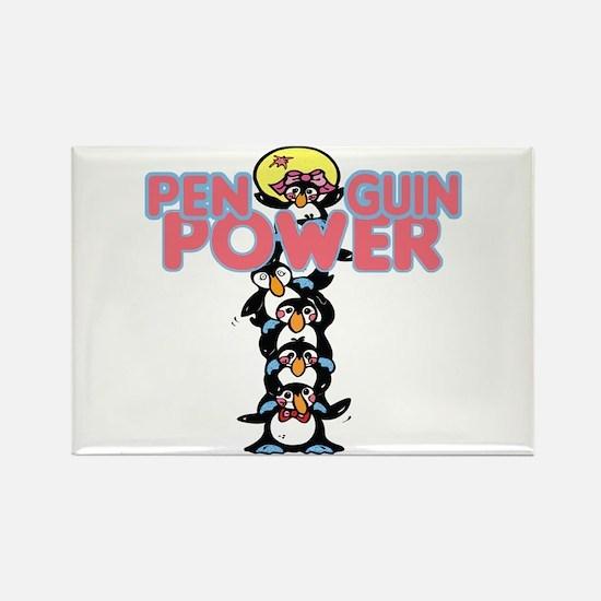 Penguin Power Penguin Stack Rectangle Magnet