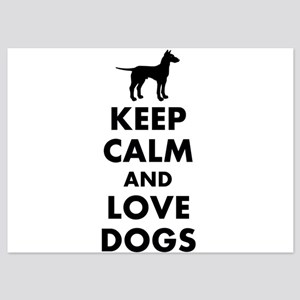 Keep calm and love dogs Invitations