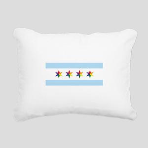 Chicago Municipal Pride Flag Rectangular Canvas Pi