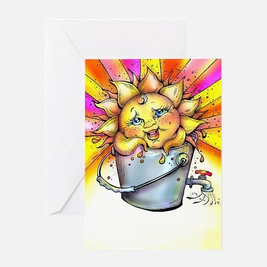 Bucket of Sunshine Greeting Cards