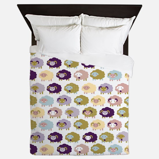 Cute Cute sheep Queen Duvet