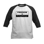 Freedom is Everything Kids Baseball Jersey