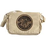 watermeterlidlsepia Messenger Bag