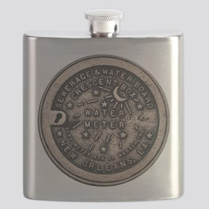 watermeterlidlsepia Flask