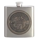 watermeterlidlsepia Flask