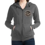 watermeterlidlsepia Women's Zip Hoodie