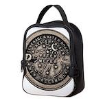 watermeterlidlsepia Neoprene Lunch Bag