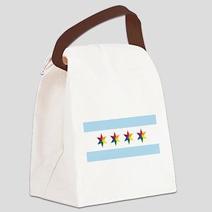 Chicago Municipal Pride Flag Canvas Lunch Bag