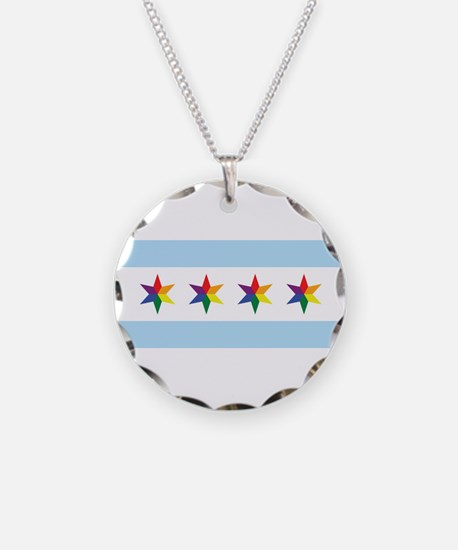Chicago Municipal Pride Flag Necklace