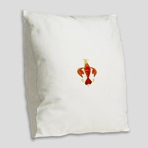 Fleur De Craw Burlap Throw Pillow