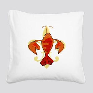 Fleur De Craw Square Canvas Pillow