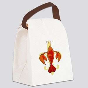Fleur De Craw Canvas Lunch Bag