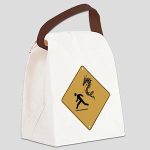 Warning: Dragons Canvas Lunch Bag