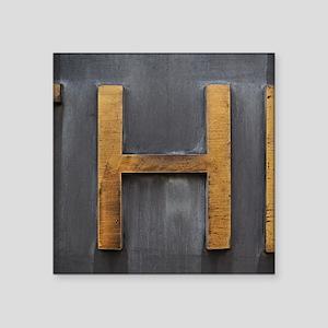 """Letter H Square Sticker 3"""" x 3"""""""